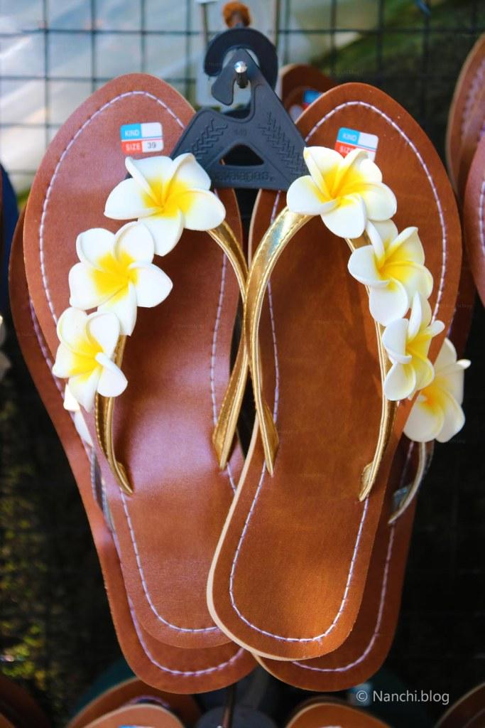 Floral Chappal, Footwear, Ubud Market, Ubud, Bali, Indonesia