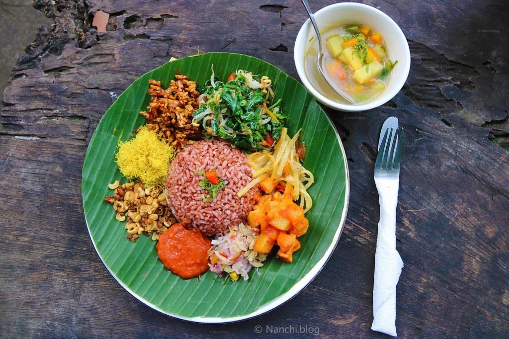 Nasi Campur, Yellow Flower Cafe, Ubud, Bali