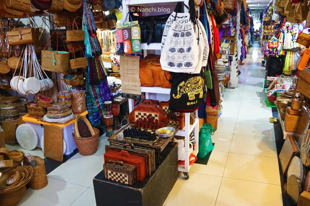 Shops in the building, Ubud Market, Ubud, Bali, Indonesia