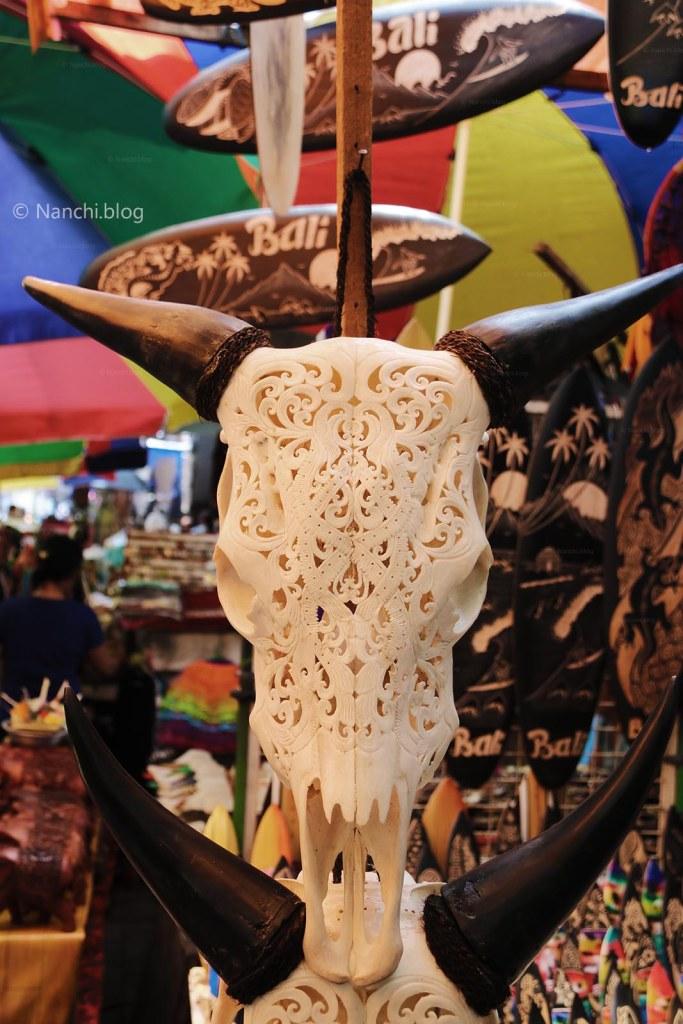 Ivory Teeth Skull, Ubud Market, Ubud, Bali, Indonesia