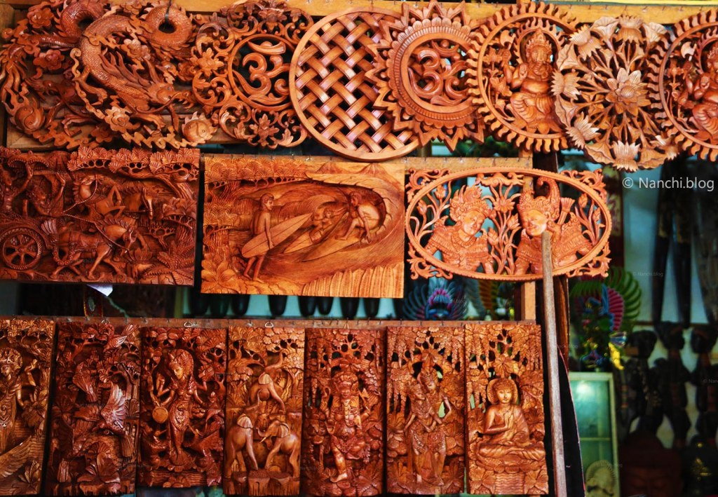 Wooden Carvings for home decor, Ubud Market, Ubud, Bali, Indonesia