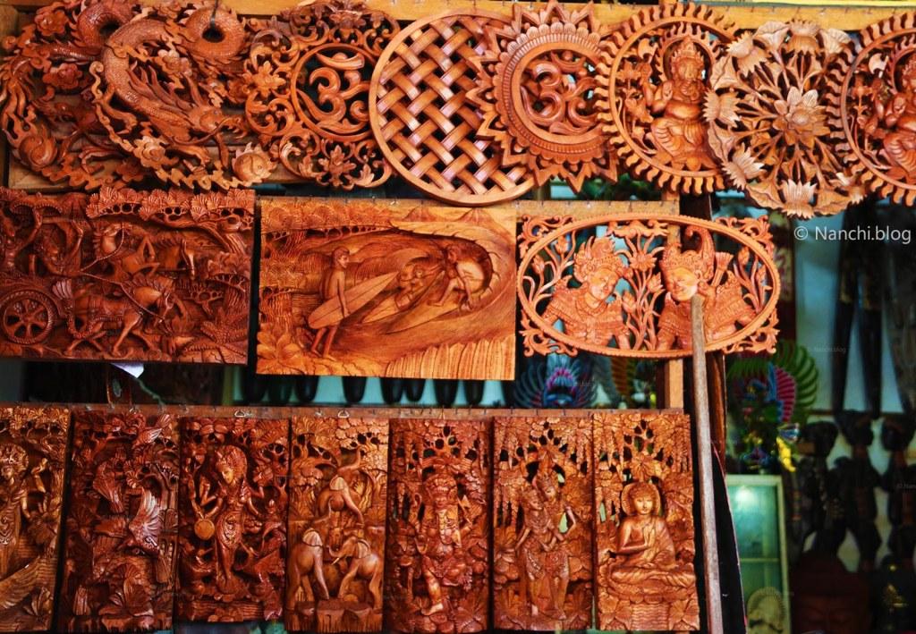 Wooden Carvings for home decor, Ubud Market, Ubud, Bali, Indonesia