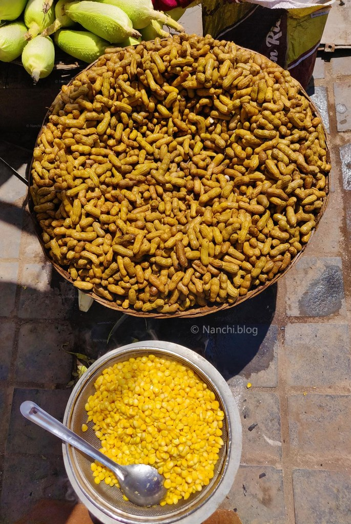 Boiled Peanuts and Corn in the Parking Area, Sinhagad Fort, Pune