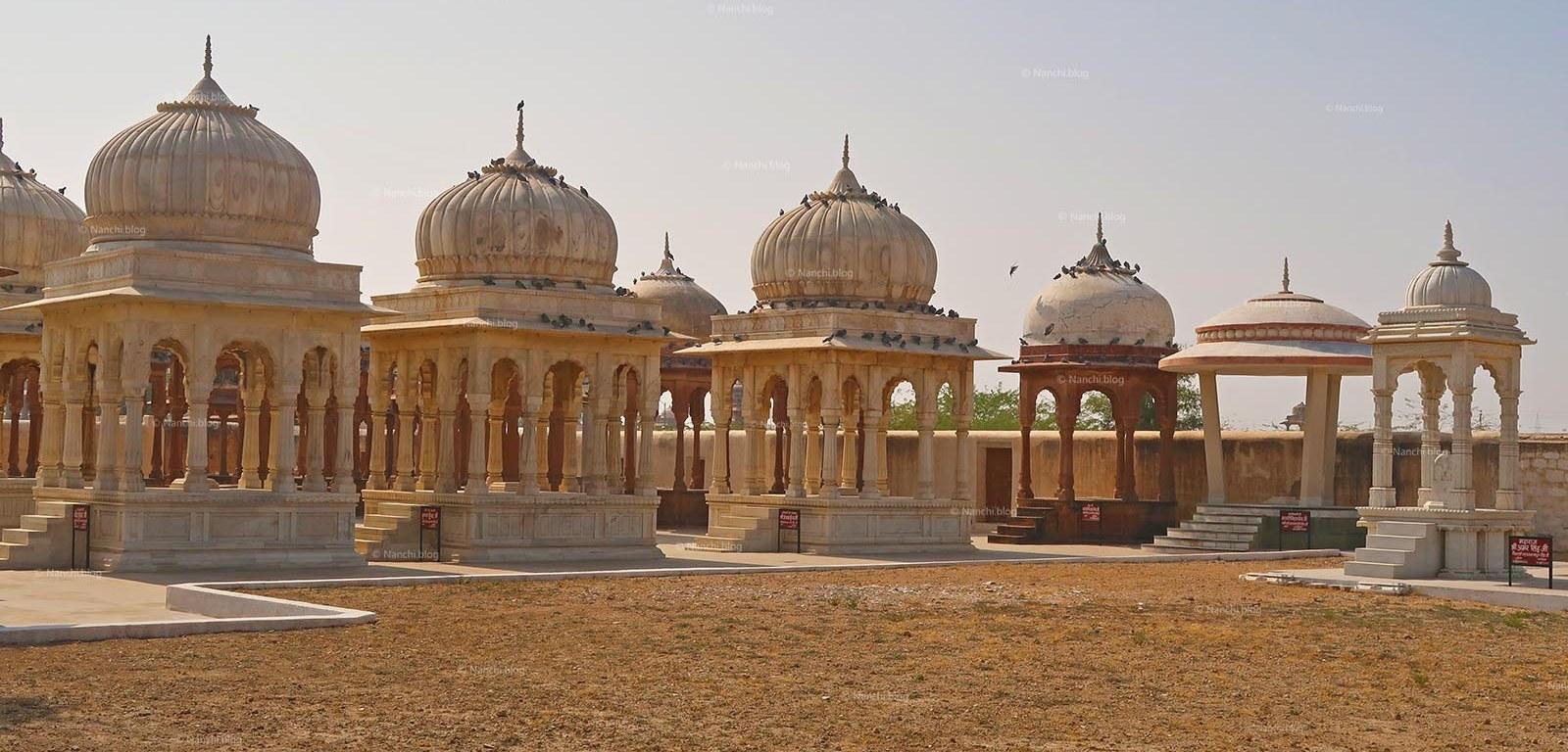 Chhatris or Cenotaphs, The Royal Cenotaphs, Bikaner