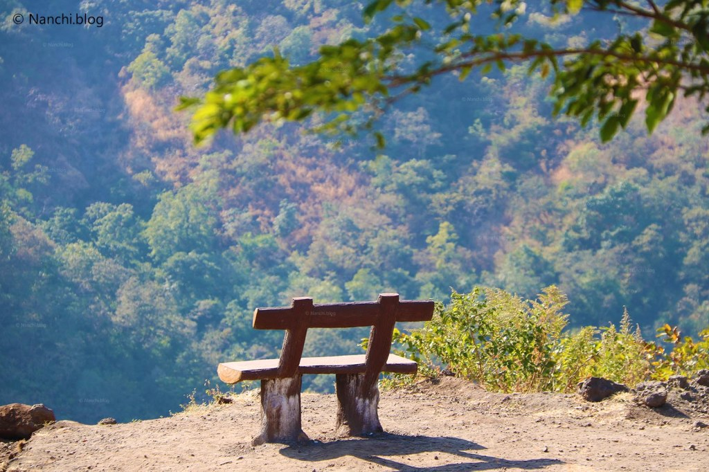 Empty Bench on the way to Sinhagad Fort, Pune