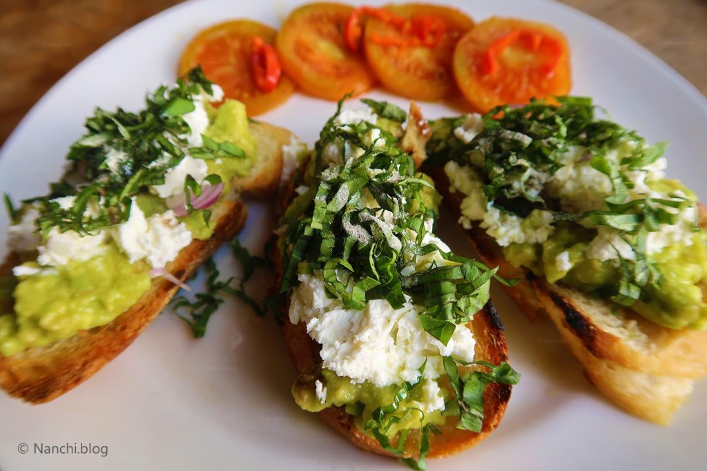 Feta Avocado Toast, Close-up, Yellow Flower Cafe, Ubud, Bali