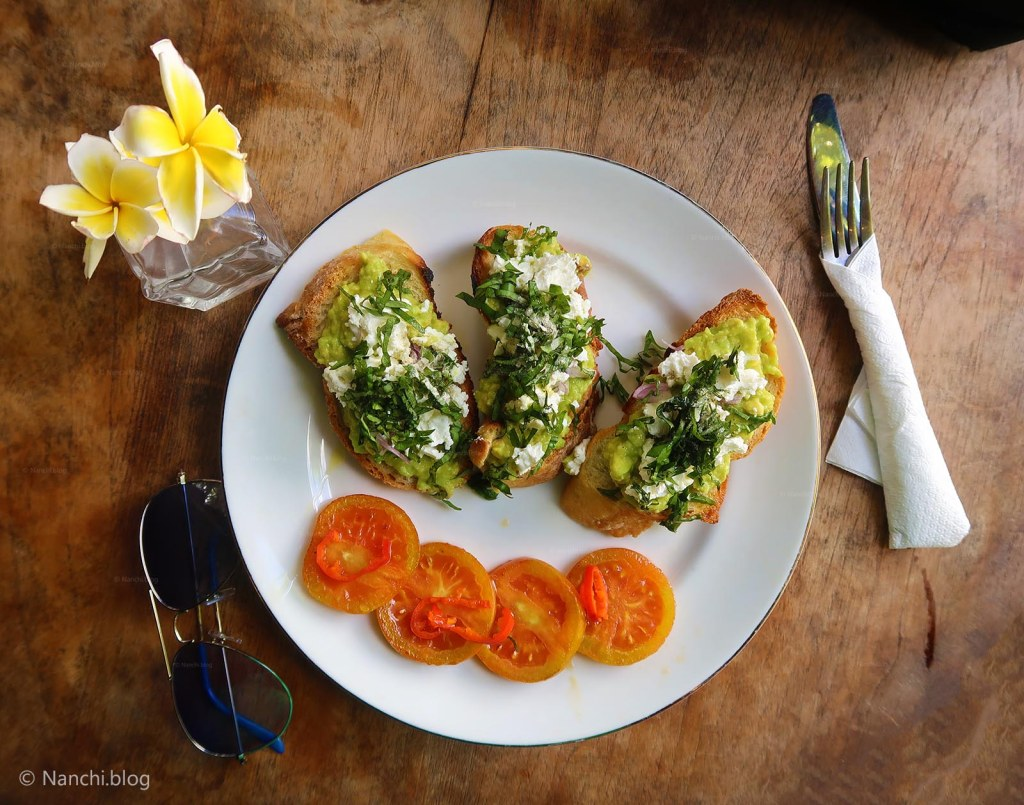 Feta Avocado Toast, FAT for breakfast, Yellow Flower Cafe, Ubud, Bali