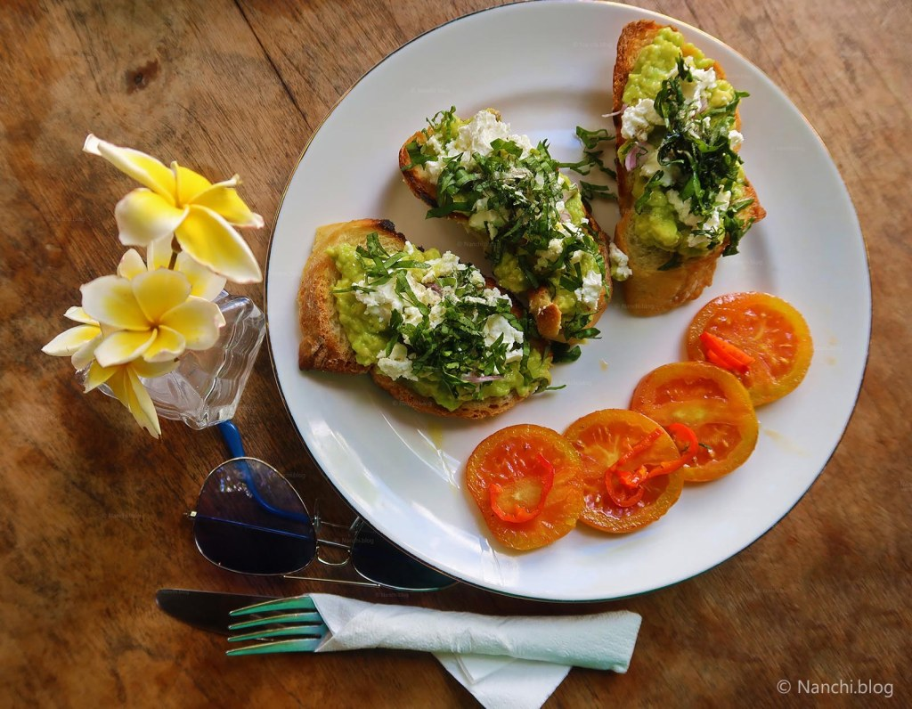 Feta Avocado Toast for Breakfast, Yellow Flower Cafe, Ubud, Bali