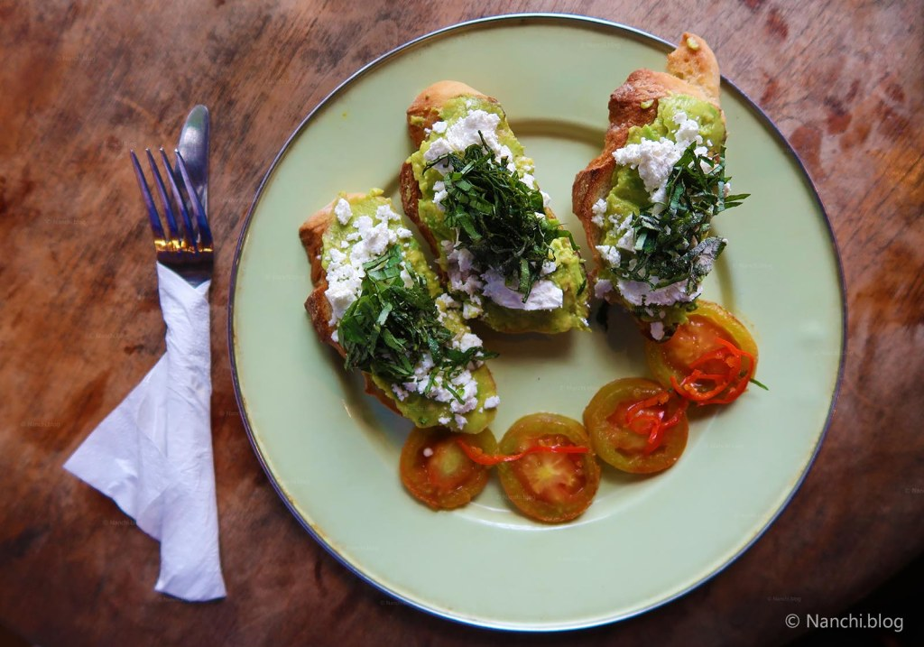 Feta Avocado Toast, Yellow Flower Cafe, Ubud, Bali