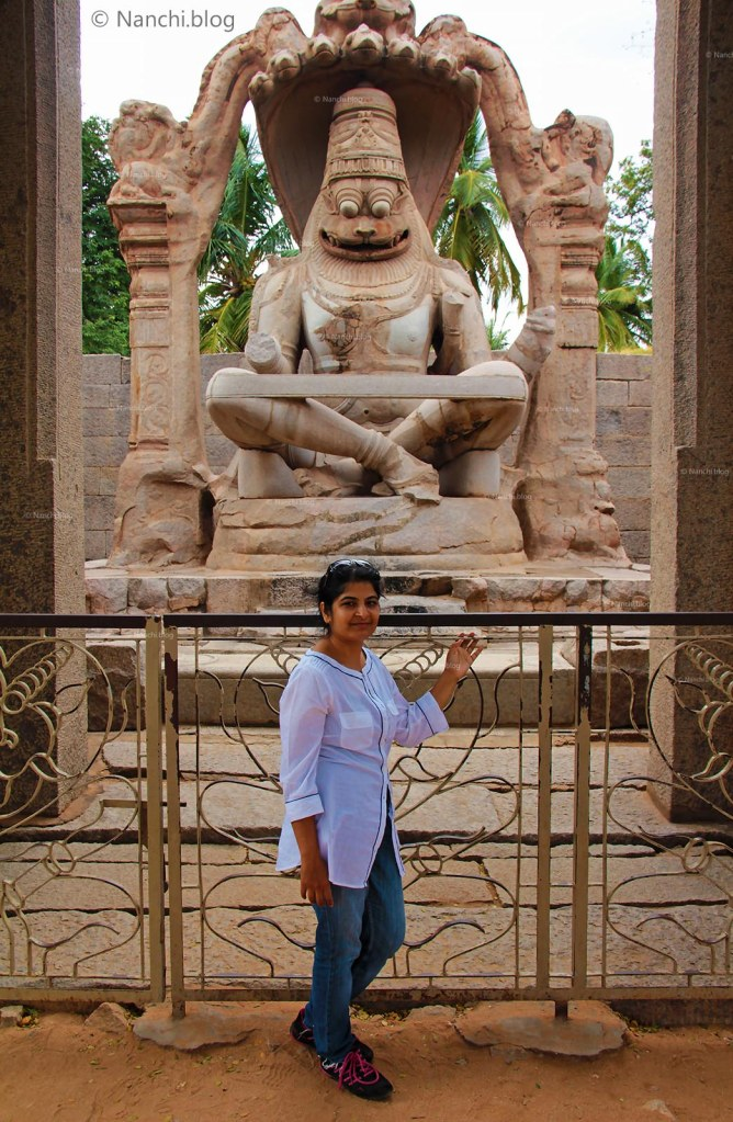 Nanchi at Lakshmi Narasimha Temple, Hampi, Karnataka