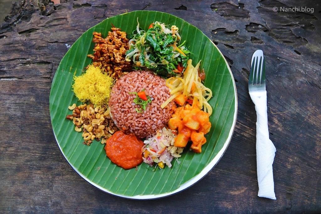 Nasi Campur Campuhan, Yellow Flower Cafe, Ubud, Bali