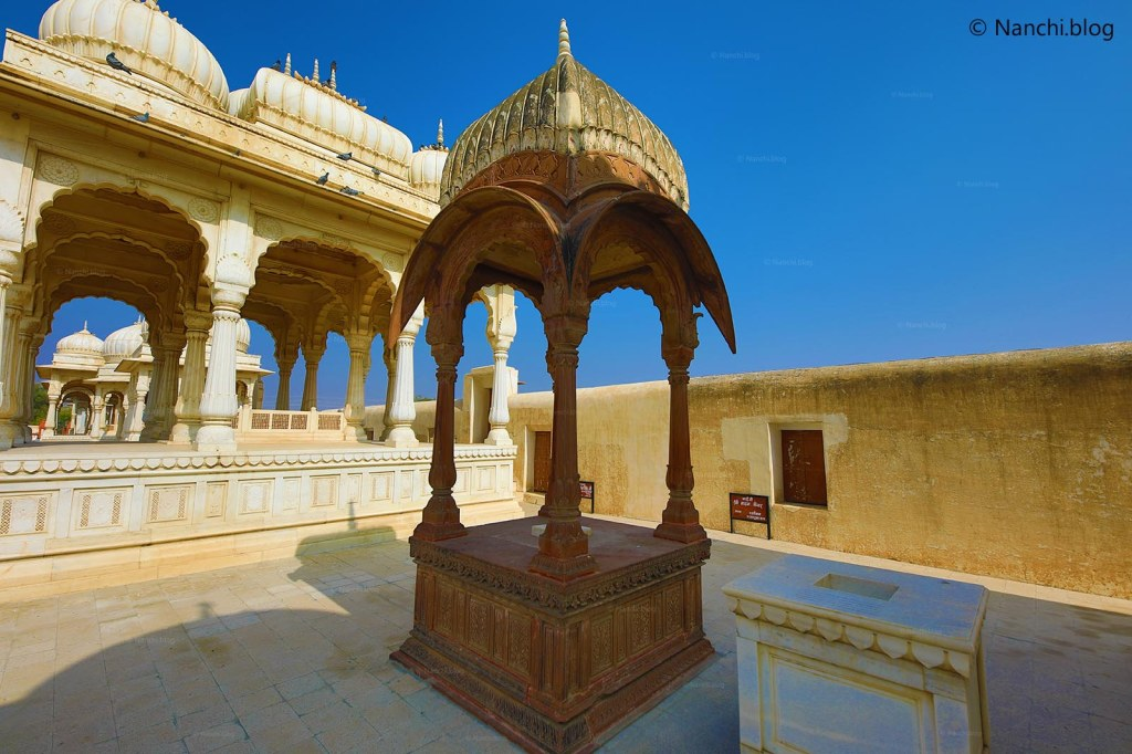 One of the Cenotaphs, The Royal Cenotaphs, Devikund Sagar, Bikaner