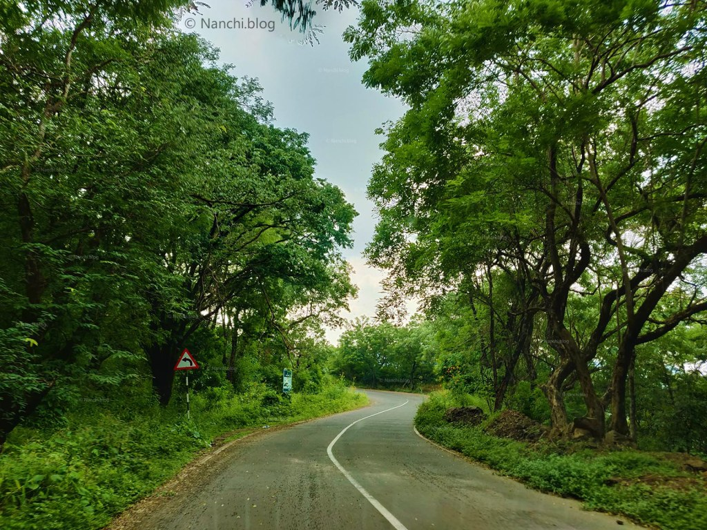 Road leading to Sinhagad Fort, Pune