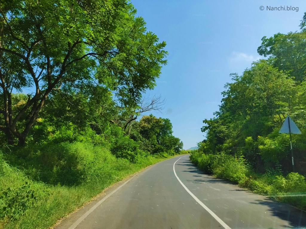 Scenic Green Roads on the way to Sinhagad Fort, Pune