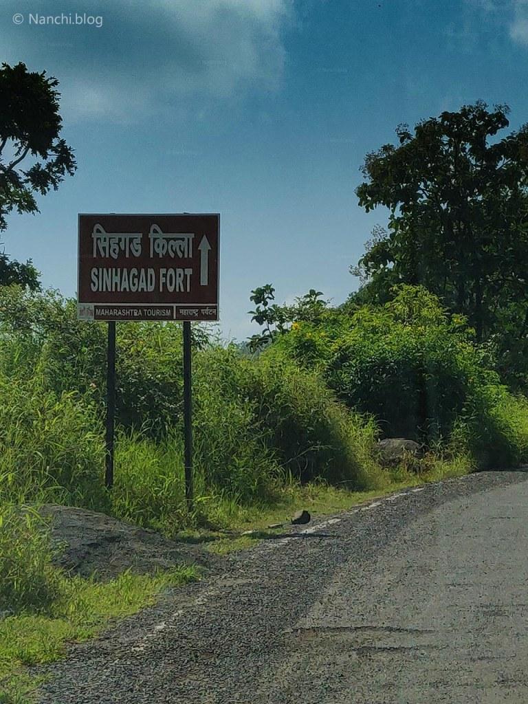 Sinhagad Killa Board, Sinhagad Fort, Pune