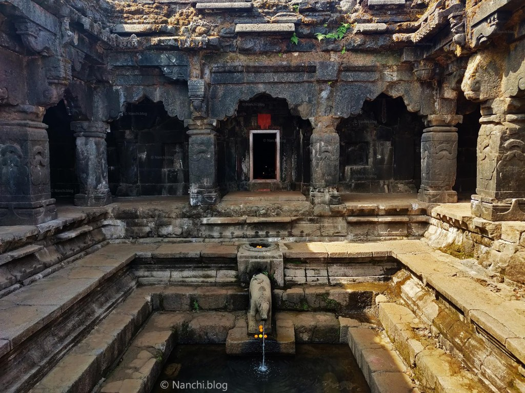Close-up of Krishnabai Temple of Lord Shiva in Old Mahabaleshwar