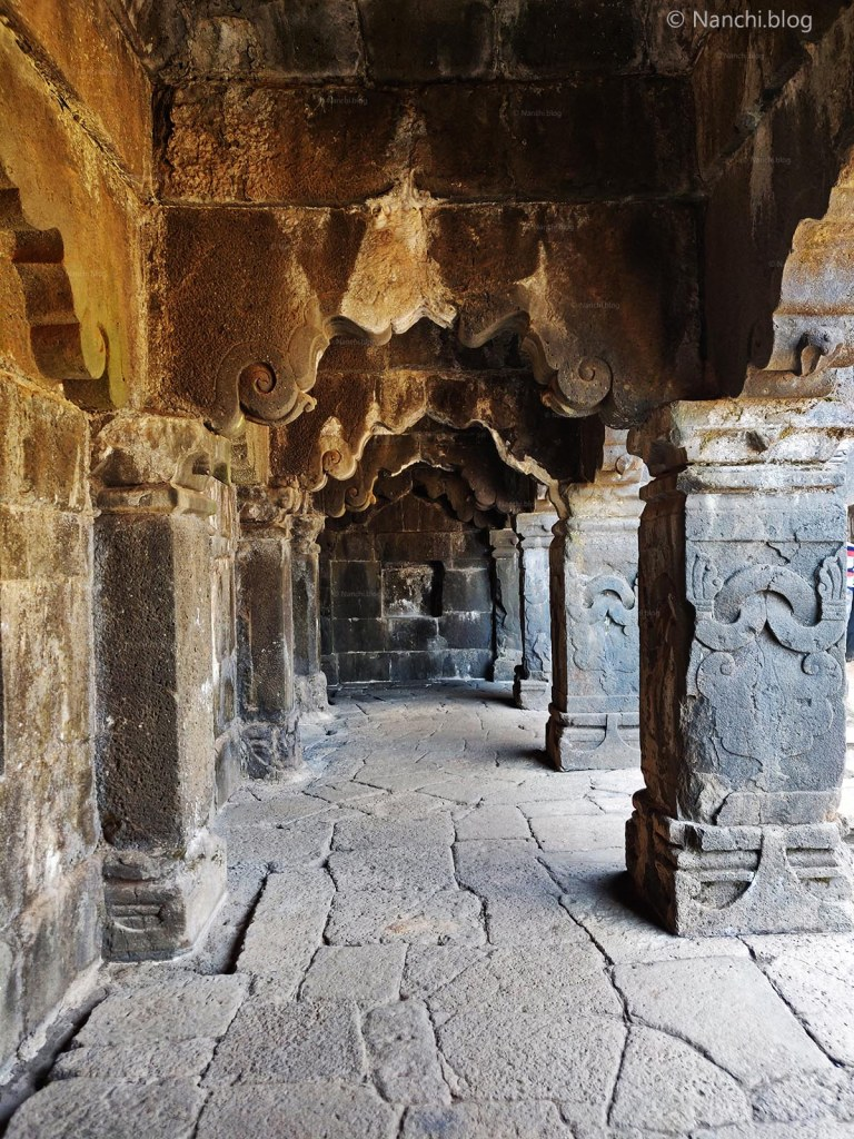 Corridor of Krishnabai Temple of Lord Shiva in Old Mahabaleshwar