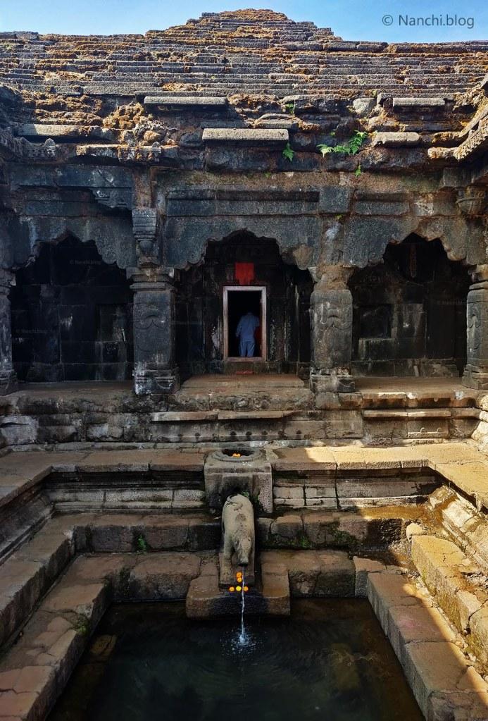 Entrance at Krishnabai Temple of Lord Shiva in Old Mahabaleshwar