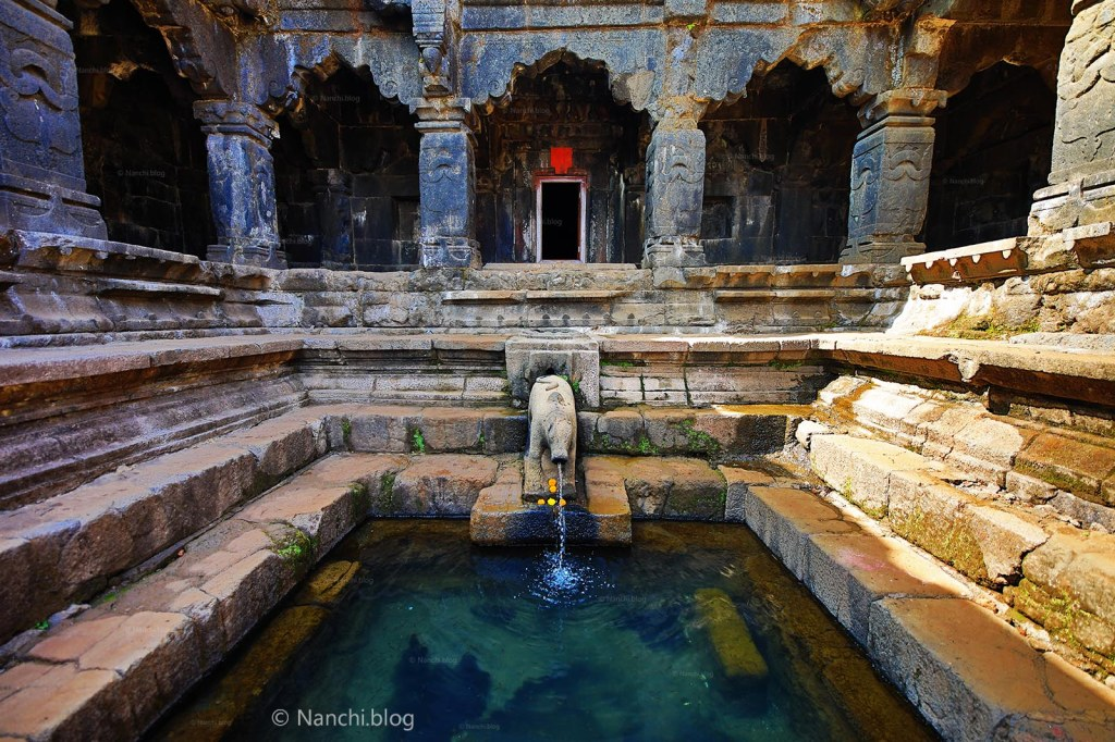 Kunda or Temple Tank in Krishnabai Temple of Lord Shiva in Old Mahabaleshwar