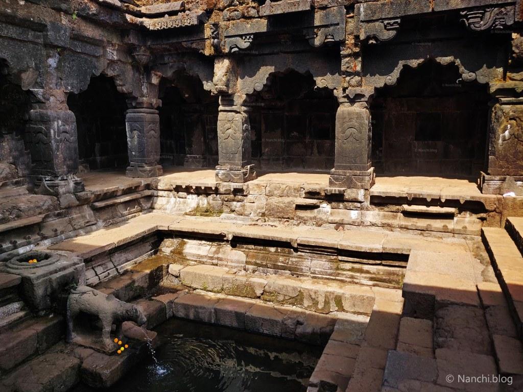 Premises of Krishnabai Temple of Lord Shiva in Old Mahabaleshwar