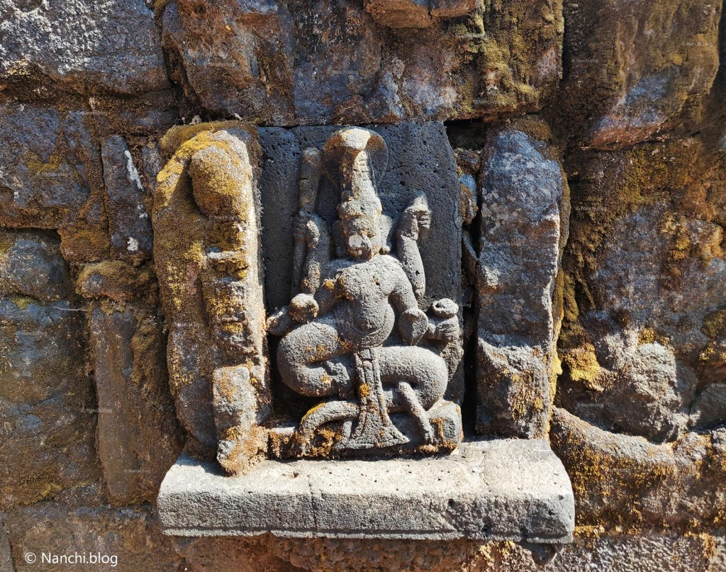 Statue outside Krishnabai Temple of Lord Shiva in Old Mahabaleshwar