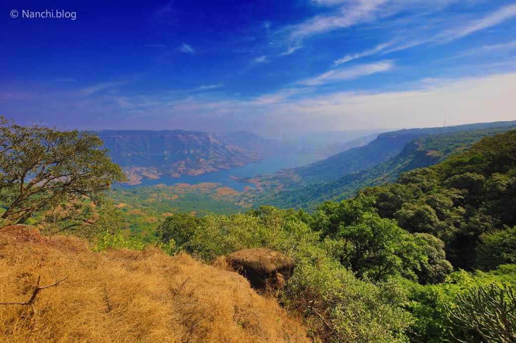 View from Krishnabai Temple of Lord Shiva in Old Mahabaleshwar
