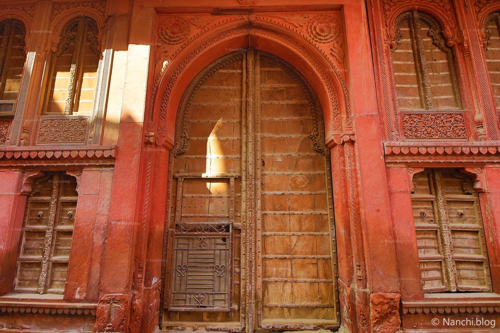 Huge Door of Rampuria Havelis, Bikaner, Rajasthan