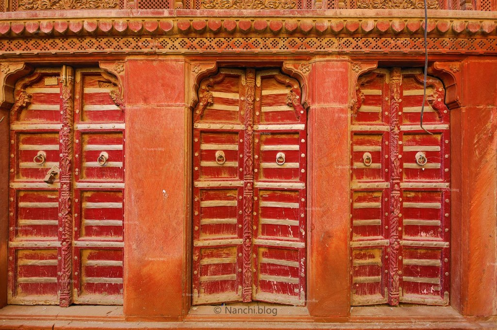Traditional Doors of Rampuria Havelis, Bikaner, Rajasthan