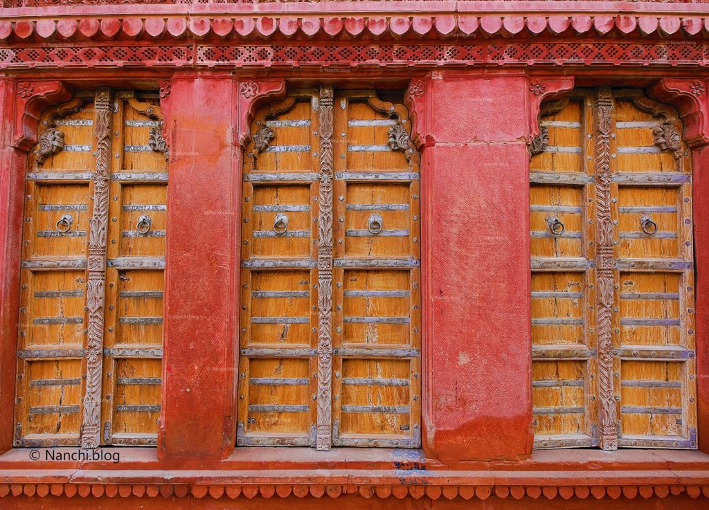 Traditional Old Doors, Rampuria Havelis, Bikaner, Rajasthan