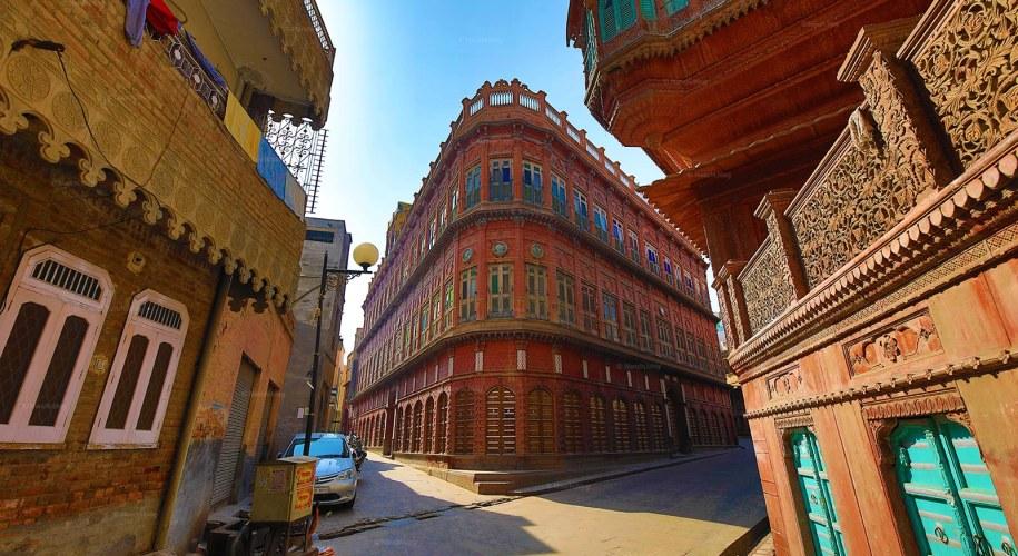View of Rampuria Havelis, Bikaner, Rajasthan