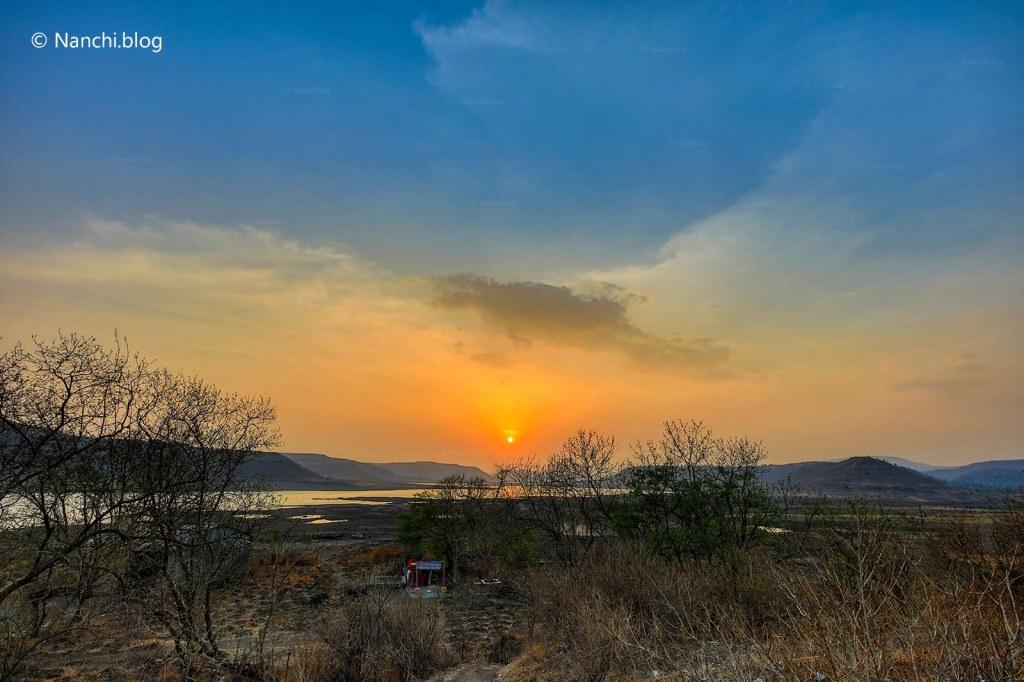 Sunset, Bhorgiri, Pune, Maharashtra