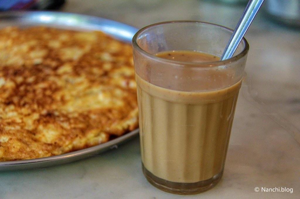 Omelette and Coffee at Vohuman Cafe, Dhole Patil Road, Pune