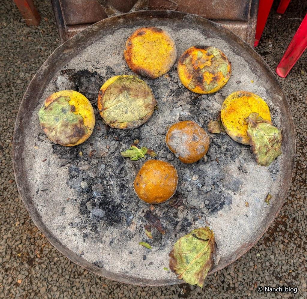 Bafla Baati in the making, Mandu, Indore