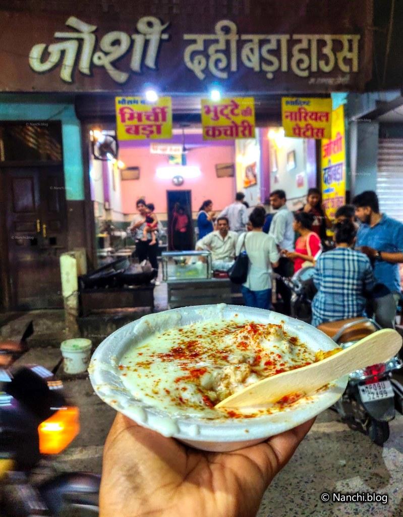 Dahi Wada, Joshi Dahi Wada House, Sarafa Bazar, Indore