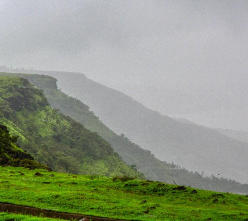Mountain range, Kaas Plateau, Satara, Maharashtra